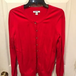 Red button down cardigan size medium
